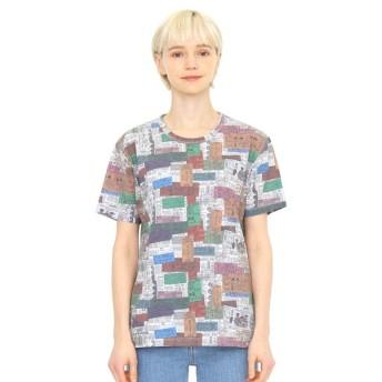 [マルイ]【セール】【ユニセックス】コラボレーション総柄Tシャツ/チケットパターン(ザビートルズ)/グラニフ(graniph)