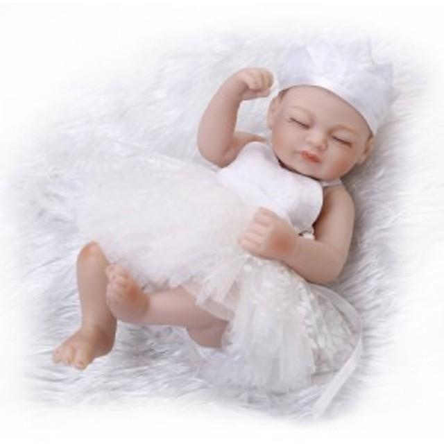 リボーンドール ミニサイズ お目目ぱっちり新生児 リアル赤ちゃん人形 ベビー人形 ベビードール ハンドメイド