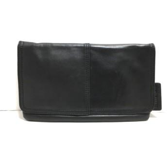 【中古】 カルバンクラインジーンズ Calvin Klein Jeans セカンドバッグ 黒 レザー