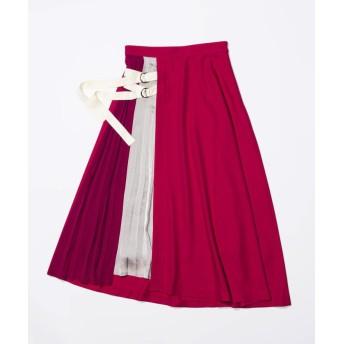 【20%OFF】 ラブレス WOMEN カラーブロックベルテッドスカート レディース ピンク4 36 【LOVELESS】 【セール開催中】