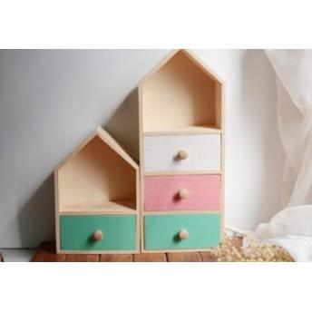 収納 棚 小物入れ ケース 雑貨 北欧 おしゃれ かわいい 子供部屋 収納ボックス お家 家 木製 木 三段タイプ インテリア 北欧インテリア