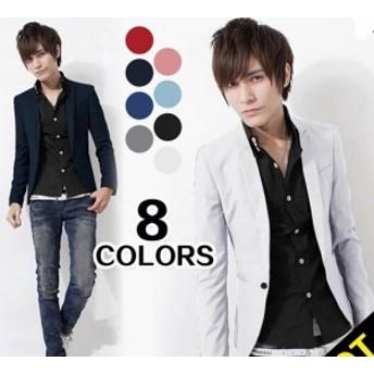 純色/スーツ/ジャケット/お兄系 メンズファッション/ コート/メンズ カジュアルなスーツ★スリム/上著/トップス/OL通勤