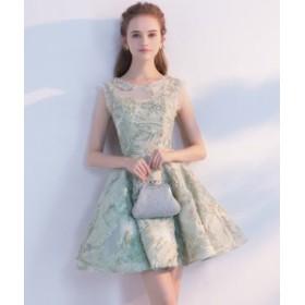 お呼ばれドレス ワンピース 結婚式 ミニドレス 二次會ドレス 忘年會 披露宴 成人式 袖なし ドレス 可愛いパーティードレス