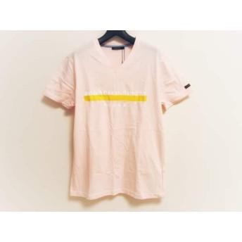 【中古】 ギルドプライム GUILD PRIME 半袖Tシャツ サイズ1 S メンズ 新品同様 ピンク 白 イエロー