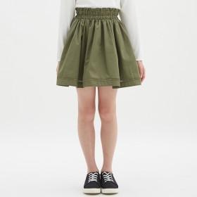 (GU)GIRLS裾レーススカート OLIVE 120
