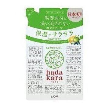 ライオン hadakara(ハダカラ)ボディソープ グリーンフルーティの香り つめかえ用 360ml