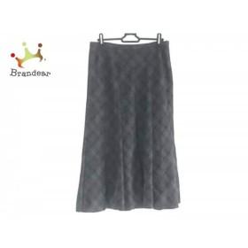 レリアン Leilian ロングスカート サイズ13 L レディース 美品 チェック柄    値下げ 20190915