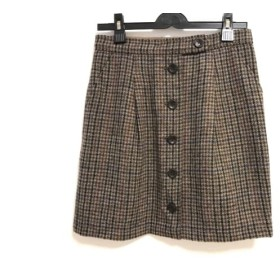 【中古】 ニジュウサンク 23区 スカート サイズ38 M レディース ベージュ マルチ ツイード/チェック柄
