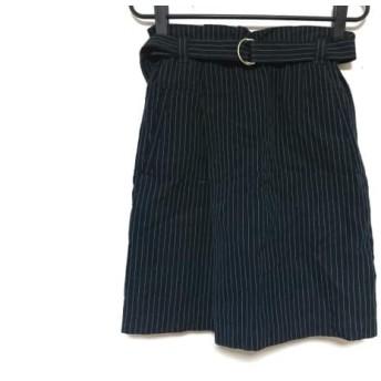 【中古】 トゥモローランド スカート サイズ36 S レディース ダークネイビー 白 ストライプ/MACPHEE
