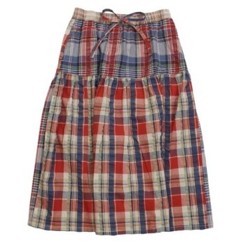 KRIFF MAYER クリフメイヤー マドラス チェック フレア スカート 1847403L