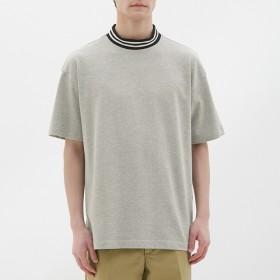 (GU)ビッグT(半袖)(リブライン) GRAY XL