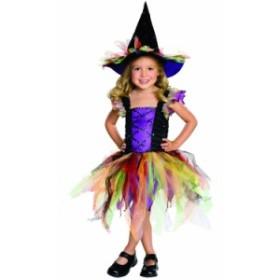 ハロウィン 衣装 子供 ルービーズ 魔女 グリッター ウィッチ コスチューム 女の子 90-135cm 882137