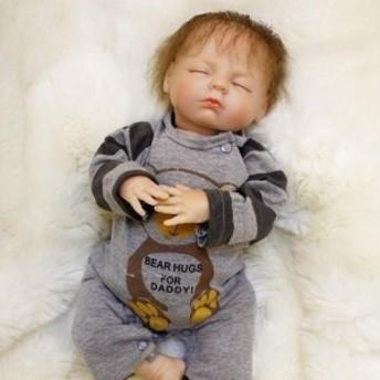 リボーンドール 赤ちゃん人形 ベビードール 海外ドール リアル ハンドメイド 高級 服 衣装付き かわいい 寝顔 乳児 男の子