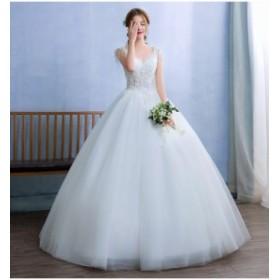 お呼ばれドレス花嫁ドレス  披露宴 二次會 ロングドレスレースドレス 大きいサイズ ウェディングドレス 結婚式セクシードレス