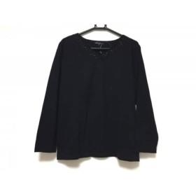 【中古】 ニジュウサンク 23区 長袖セーター サイズ46 XL レディース 黒 ビーズ