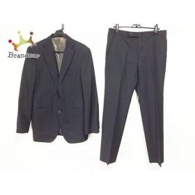 ボイコット シングルスーツ サイズ4 XL メンズ 黒×グレー×白 ストライプ/シングル 新着 20190406