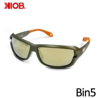 ケナイオビー ビンゴ ガンメタルフレーム ミラーレンズ 偏光サングラス KIOB Bin5