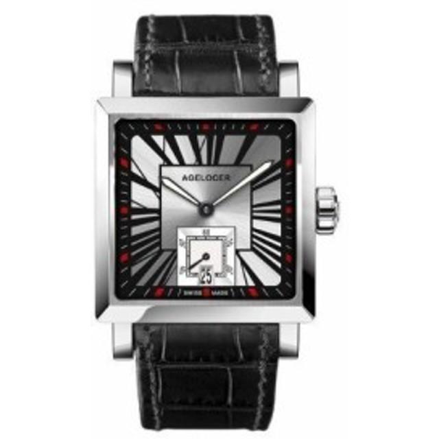 2a0875232257 メンズ 腕時計 自動巻 機械式 スクエアケース おしゃれ ビジネス カジュアル フォーマル 高級 防水 レザー