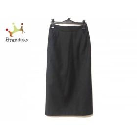 ニジュウサンク 23区 ロングスカート サイズ36 S レディース 美品 ダークグレー   スペシャル特価 20190802