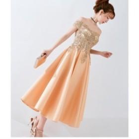 パーティードレス 謝恩會 服裝 オフショルダー 大きいサイズ お呼ばれワンピースレース洋服 結婚式ワンピース