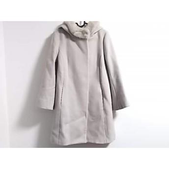 【中古】 アナトリエ anatelier コート サイズ36 S レディース ライトベージュ 冬物