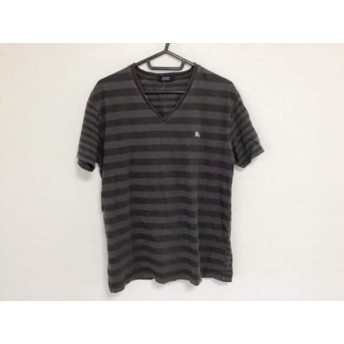 【中古】 バーバリーブラックレーベル 半袖Tシャツ サイズ3 L メンズ ダークブラウン ダークグレー
