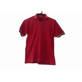 【中古】 フレッドペリー FRED PERRY 半袖ポロシャツ メンズ レッド