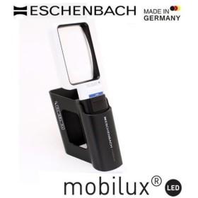 エッシェンバッハ mobiluxLED+mobase LEDワイドライトルーペ&専用スタンド 50×75mm(3.5倍) 1511-3M (1052981)