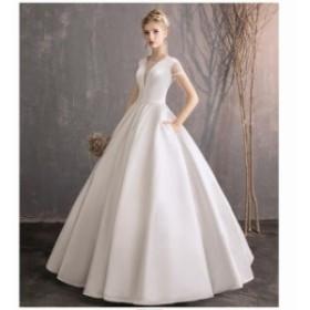 ロングドレス 披露宴 パニエ付き パーディードレス 結婚式 プリンセス 上品 発表會 二次會 演奏會 ブライダル 豪華なドレス