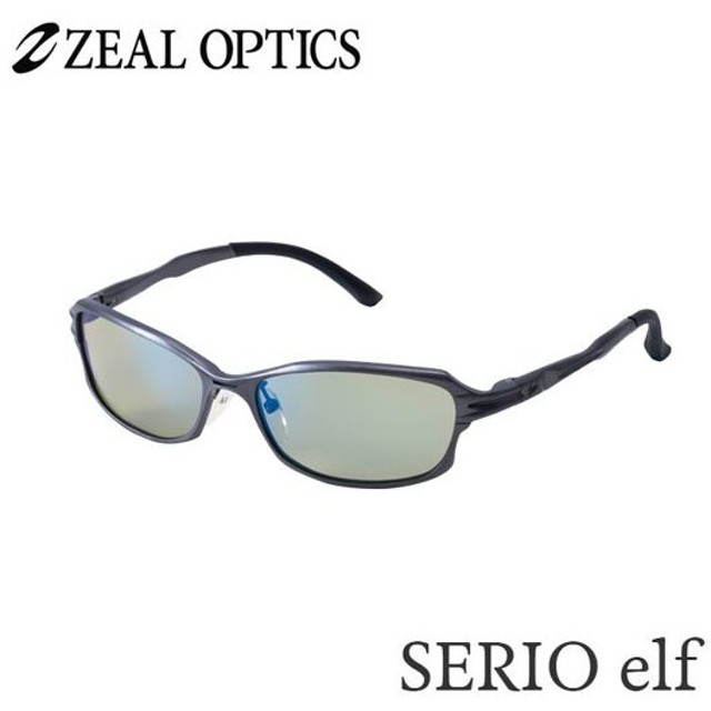 zeal optics(ジールオプティクス) 偏光グラス セリオエルフ F-1189 #イーズグリーン/ブルーミラー ZEAL SERIO elf