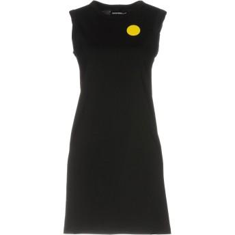 《セール開催中》SCRAMBLED_EGO レディース ミニワンピース&ドレス ブラック S コットン 100%