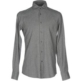 《期間限定 セール開催中》HAMPTONS メンズ シャツ グレー 38 コットン 100%