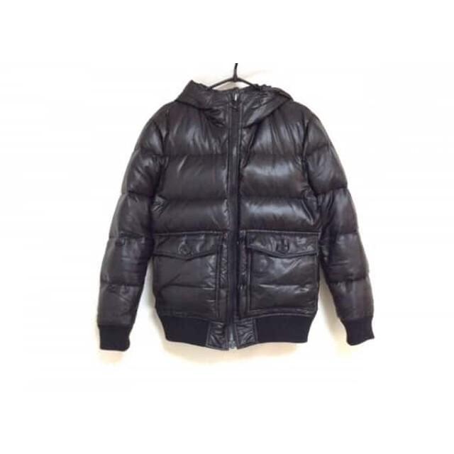 【中古】 バーバリーブラックレーベル Burberry Black Label ダウンジャケット サイズS メンズ 黒 グレー