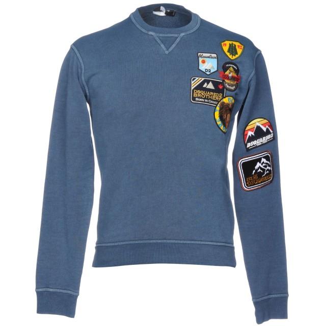 《セール開催中》DSQUARED2 メンズ スウェットシャツ ブルーグレー XS コットン 100% / ポリウレタン