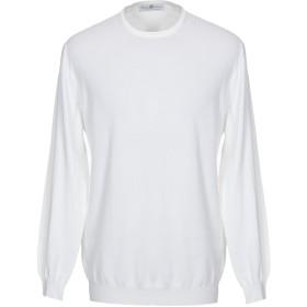 《セール開催中》DELLA CIANA メンズ プルオーバー ホワイト 54 コットン 100%