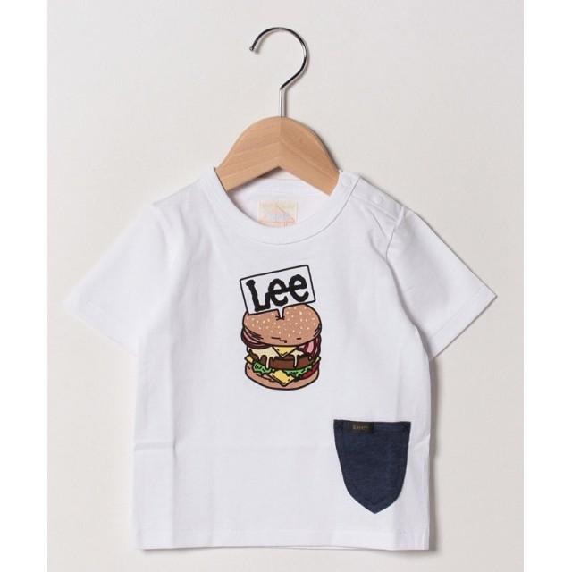 【45%OFF】 リー Babyポケット付き プリントTシャツ レディース ホワイト 80 【LEE】 【セール開催中】