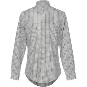 《セール開催中》BROOKS BROTHERS メンズ シャツ ライトグレー M コットン 100%