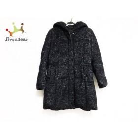 アンタイトル UNTITLED ダウンコート サイズ3 L レディース 美品 黒×グレー 冬物 新着 20190408