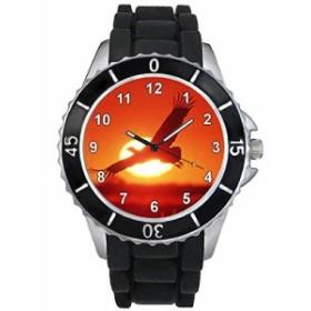 シリコーンバンドとのイーグル男女両用デザイン時計