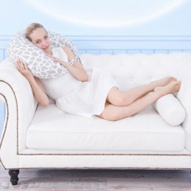 授乳クッション授乳枕 U型新生児クッション出産祝い プリント シンプル多機能 取り外し可能