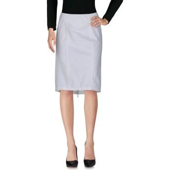 《セール開催中》SPORTMAX レディース ひざ丈スカート ホワイト 44 99% コットン 1% ポリウレタン