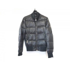 【中古】 ドルチェアンドガッバーナ ダウンジャケット サイズ44 S メンズ 黒 冬物/ジップアップ