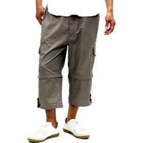 その他パンツ・ズボン - MARUKAWA FIRST DOWN カーゴパンツ 大きいサイズ メンズ 春 夏 クロップド ハーフブラック/ベージュ/グリーン2L/3L/4L/5L【ブランド カーゴ パンツ 7分 2WAY ショート】