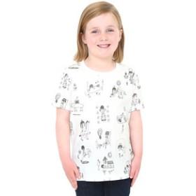 【グラニフ:トップス】グラニフ Tシャツ キッズ 男の子 女の子 半袖 子供服 ぼくのキュートナパターン(荒井良二マルチパターンショートスリーブティー)