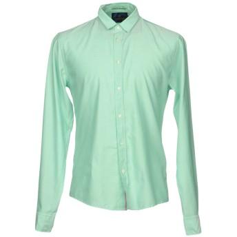 《セール開催中》SCOTCH & SODA メンズ シャツ ライトグリーン XL コットン 100%