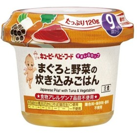 【訳あり 特価】 キユーピー ベビーフード すまいるカップ まぐろと野菜の炊き込みごはん 9ヵ月頃から (120g)