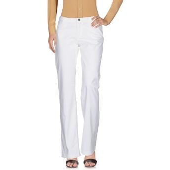 《セール開催中》INCOTEX レディース パンツ ホワイト 44 コットン 97% / ポリウレタン 3%