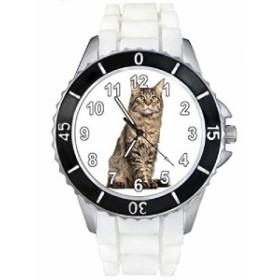 Timest - ヨーロッパショートヘアキャット - Round Analogue Quartz SE0116w白人の中のシリコーンストラップとの男女両用の時計