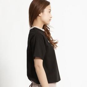 Tシャツ - WEGO【WOMEN】 レースハイネックレイヤードロゴTシャツ BR18SM07-L008