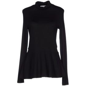 《期間限定 セール開催中》ANNA RACHELE レディース T シャツ ブラック 46 レーヨン 96% / ポリウレタン 4%